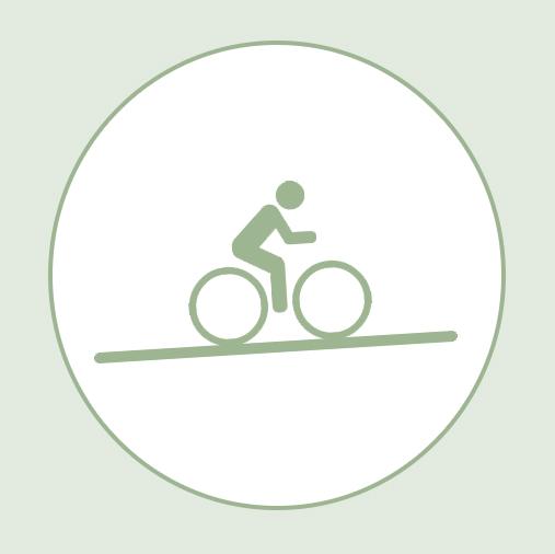les voies vertes métropolitaines et les pentes faibles à Saint-Etienne