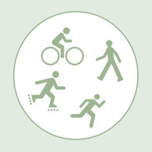 Les voies vertes métropolitaines pour tous les types d' usagers vélo pietons