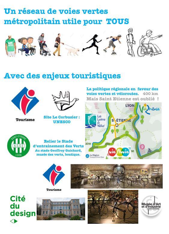 Les voies vertes et le tourisme à Saint-etienne