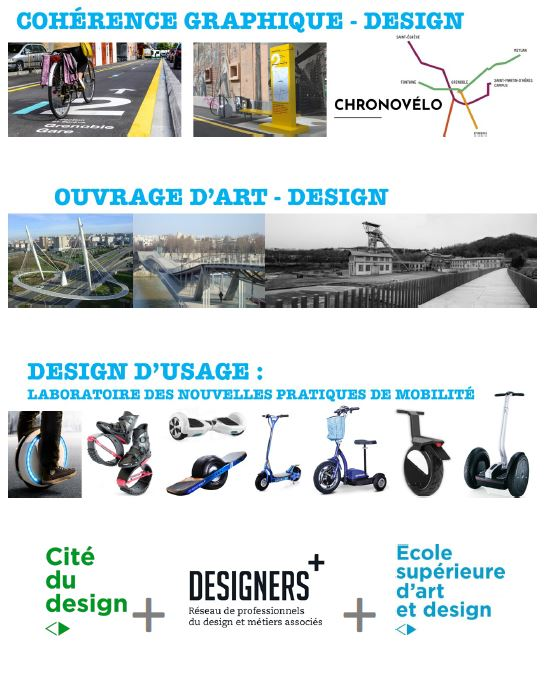 Les voies vertes et le désign à Saint-Etienne