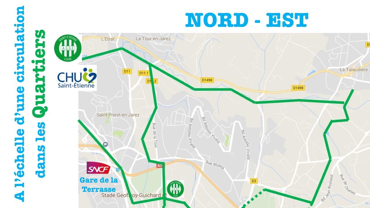 Voies vertes au nord de Saint-Etienne