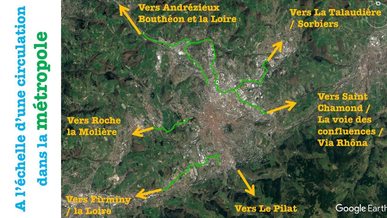 Voie verte à l'échelle de la metropole de saint etienne